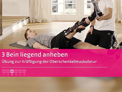 M.4s® PCL dynamic Übung Bein liegend anheben