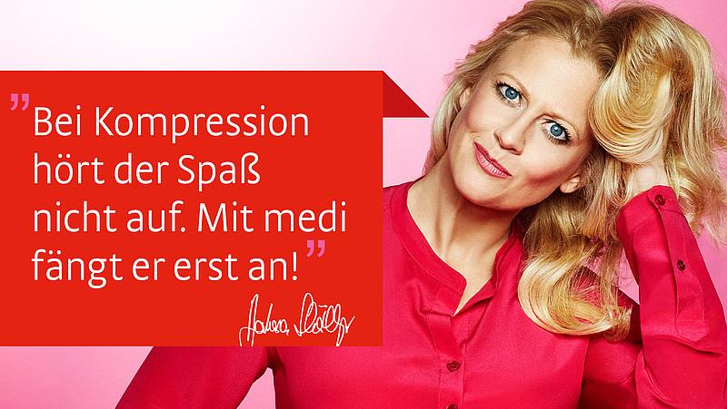 medi und Barbara Schöneberger Kompression
