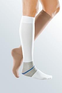 Bein Strumpf Wunde Kompression