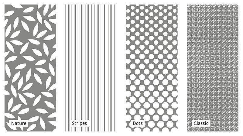 Mustervielfalt bei flachgestrickten mediven Kompressionsstrümpfen