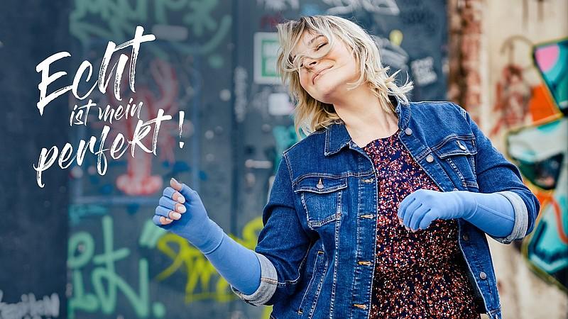 mediven Kompressionsstrümpfe in Trendfarbe Jeansblau